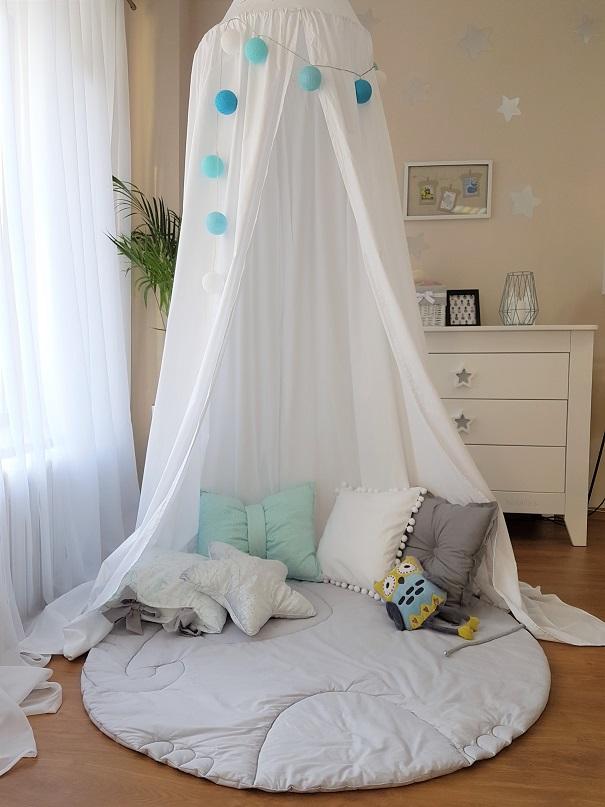 Namiot / Baldachim wiszący biały