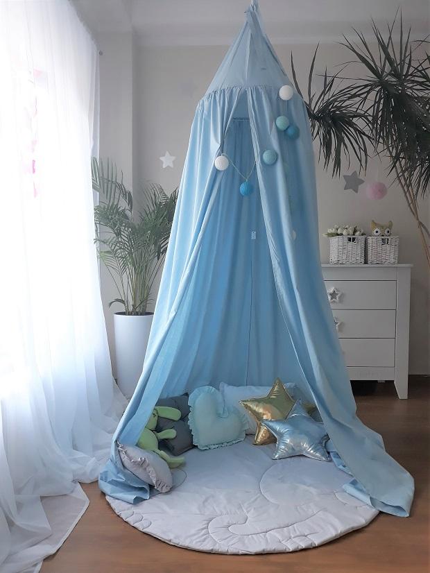 Namiot / Baldachim wiszący niebieski